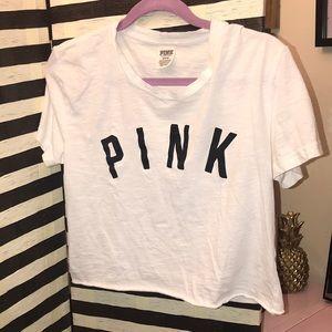 GUC VS Pink Short Sleeve Crop Top